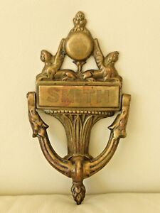 Vintage Bronze Door Knocker