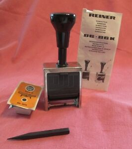 Reiner B6 Multiple Movement Hand Numbering Machine W extra Ink Pad Made germany