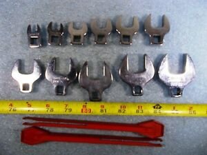 Snap On 3 8 Drive Open End Crowfoot Wrench 3 8 1 Range Complete Set 11 Pieces
