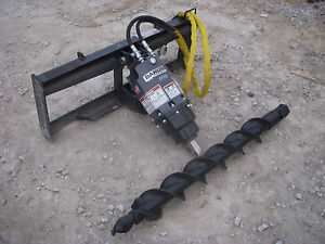 Bobcat Skid Steer Attachment Danuser Ep 10 Hex Auger With 6 Bit Ship 199