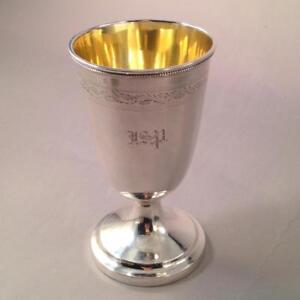 Coin Silver Goblet Southern General John Smith Preston S Carolina Carrington 1