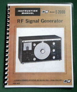 B k E 200d Signal Generator Instruction Manual Comb Bound Protective Covers