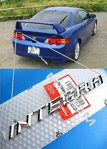 Hola Oem Integra Rear Trunk Chrome Plated Emblem Rsx Dc5 Acura Oem Jdm Genuine