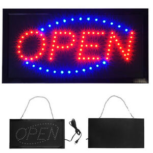 Animated Motion Running Led Business Open Sign on off Switch Bright Light Neon