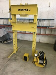 Enerpac 50 Ton H Frame Hydraulic Press With Electric Pump Model Iph 5030