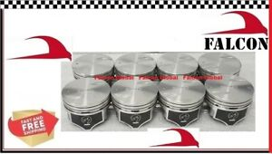 Chevy 7 4 454 Speed Pro Hypereutectic Flat Top Pistons Set 8 030 W Rings