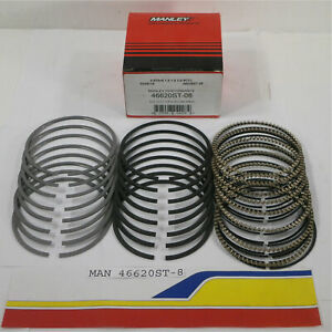 Manley 46620st 8 Piston Rings 4 6l 5 4l Ford Steel Top Napier 2nd 3 572 b Ff