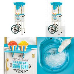 Commercial Snow Sno Cone Maker Cart Shaved Ice Icee Machine Slushy