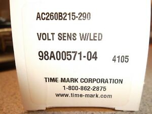 Time Mark Voltage Monitor Ac260b 215 290vac Includes 51x00120 01 W 8pin Socket