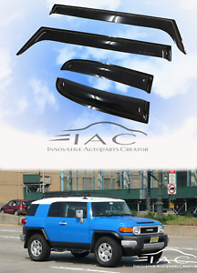 For Toyota Fj Cruiser 06 17 Window Visor Vent Sun Shade Rain Guard Door Visor