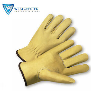 West Chester Protective Premiumgrain Pigskin Leather Driver Gloves 9940k xl 12
