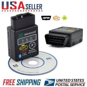 Elm327 Obd2 Car Bluetoothv2 1 Interface Diagnostic Tool Scanner For Android Us
