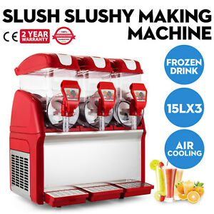 Slush making machine Drink slushy smoothie Maker 45l h 3 tank Juice Newest