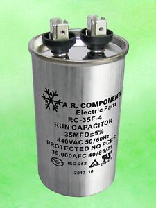 Run Capacitor 35 Mfd 440 Vac Round Can Ul Certified Rc 35f 4