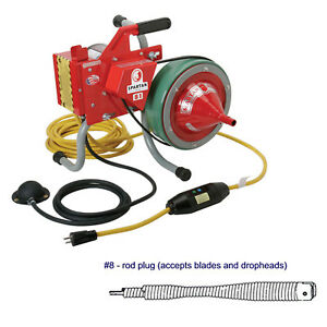 Spartan Tool 81 Drain Cleaning Machine And 5 16 X 35 Inner Core Snake Cable