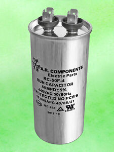 Run Capacitor 50 Mfd 440 Vac Round Can Ul Certified Rc 50f 4