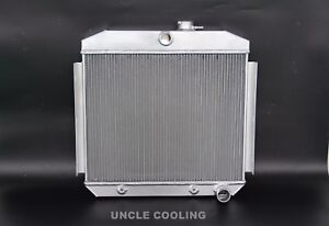 New 3 Rows Aluminum Radiator 1955 1956 Chevy Belair Bel Air 6cyl Core Support