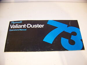 1973 Plymouth Valiant Duster Operators Manual
