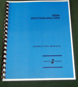 Hp 8568a Operation Manual Comb Bound Protective Covers