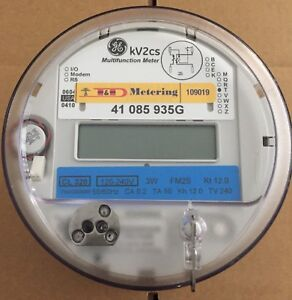 General Electric ge Watthour Meter kwh Model Kv2cs 240 Volts 320a Fm2s