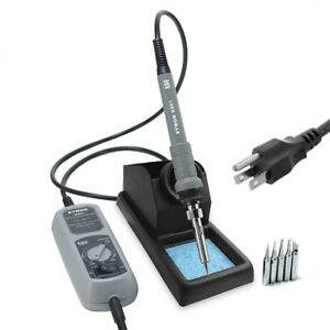 Sywon 60w Esd Soldering Iron Kit With On off Switch Temperature Adjustable La