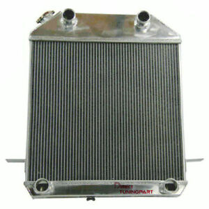 3 Row Aluminum Radiator For 1939 1941 Ford Deluxe Mercury Pickup Flathead V8 Gas