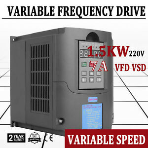 2hp 1 5kw 7a Vfd Cnc Spindle Inverter 1500w Variable Frequency Converter