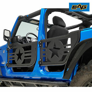 Eag 07 18 Jeep Wrangler Jk 4 Dr Star Military Tubular 4 Door With Mirrors Pair