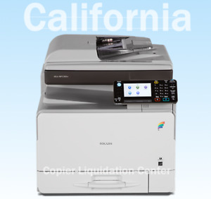 Ricoh Mpc 305spf Color Copier Scanner Fax Printer Speed 31 Ppm Low Meter