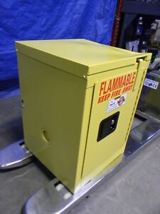 Securall Yellow Steel Standard Safety Cabinet For Flammable Chemicals A302