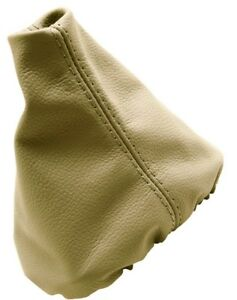 Manual Shift Boot Real Leather For Vw Jetta Golf Vento Mk3 91 98 Beige
