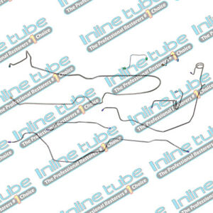 79 80 Trans Am Firebird Complete Preformed 4 Wheel Disc Brake Line Kit Stainless