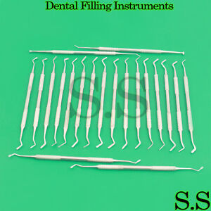 Dental Filling Instruments Composite Plastic Amalgam Double Ended Set Of 20
