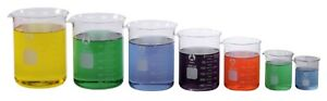 7 Sizes Glass Beakers 50ml Thru 1000ml