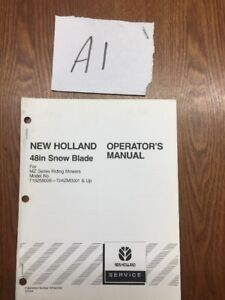 New Holland 48 Snow Blade For Mz Riding Mowers Operator s Manual