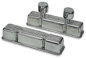 Moroso 68370 Valve Covers Small Block Chevy Ribbed Tall Design