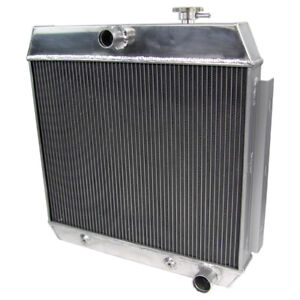 3 Row Aluminum Radiator For Chevy Bel Air W Cooler 1955 1957 1956 4 3l 4 6l V8