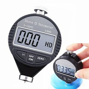 Portable 0 100hd Shore D Hardness Durometer Scale Tester Meter Large Lcd Display