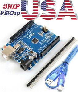 Uno R3 Atmega328p Board Usb Ch340g Ic For Arduino Ide Software Free Usb Cable