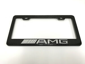3d amg Handmade Real Carbon Fiber License Plate Frame Tag Cover 3k Twill 2