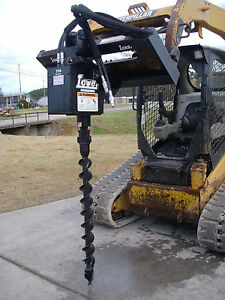Bobcat Skid Steer Attachment Lowe 750 Hex Classic Auger With 4 Bit Ship 199