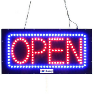 Led Open Sign Horizontal open 10 x20 Size On Off Flashing Mode 3149