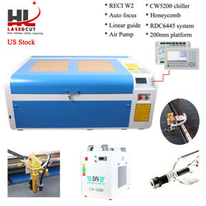 100w Co2 Laser Engraving Machine Reci W2 Tube Linear Guide Cw5000 Chiller Us Shi