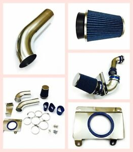 3 5 Cold Air Intake Induction Kit Blue Filter For 1989 1993 Ford Mustang