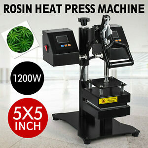 5 X 5 New Dual Heating Elements Manual Rosin Heat Press Machine