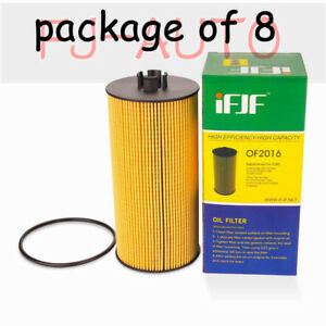 8 Pcs New Oil Filter For Ford Powerstroke Fits 6 0l 6 4 L Turbo Diesel Engine