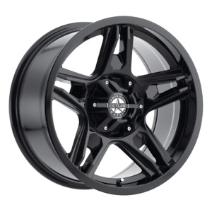Set 4 17x8 5 10 6x135 Lonestar Full Painted Gloss Black Wheels rims 17 53097