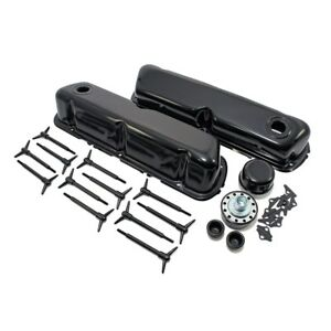 Black Ford Valve Cover Dress Up Kit 1962 85 Sbf 260 289 302 351w 5 0 Small Block