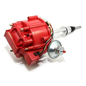 New Hei Distributor Chevy Late Inline 6 Cylinder Six 230 250 292 Red 65k Coil