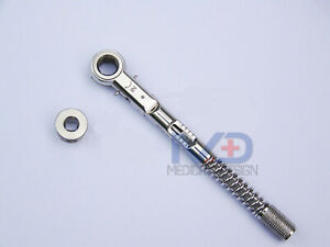 New Dental Implant Universal Torque Wrench Ratchet 10 50 Ncm 6 35 Mm Hex 4 0 Mm